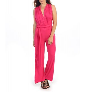 Women's Fuchsia Full-length Custom Strap Jumpsuit