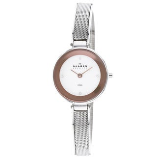 Skagen Women's 323SSR Mother of Pearl Dial Mesh Strap Watch