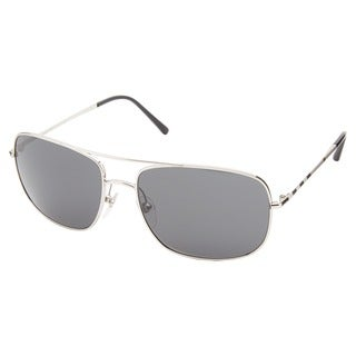 Burberry Men's 'BE3077' Silver/ Grey Metal Aviator Sunglasses