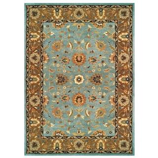 Feizy Makenzie Light Blue Brown Rug (9'6 x 13'6)