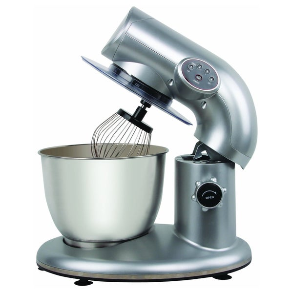 American Era Stand Mixer with 6-Quart Stainless Steel Bowl - Silver