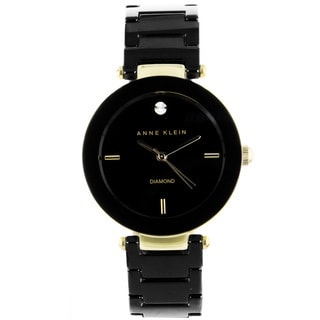 Anne Klein Women's AK-1018BKBK Black Ceramic Watch
