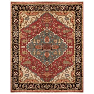 Feizy Ihrin Red Black Rug (8'6 x 11'6)
