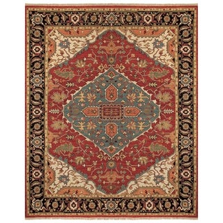 Feizy Ihrin Red Black Rug (9'6 x 13'6)