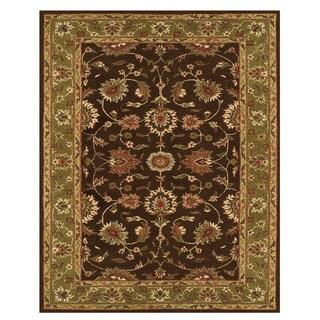 Feizy Makenzie Dark Brown Green Rug (9'6 x 13'6)