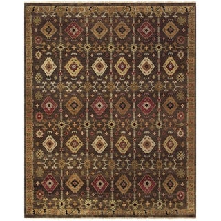 """Feizy Hand-knotted 100-percent Wool Pile Isabella Rug in Brown 7'-9"""" x 9'-9"""""""