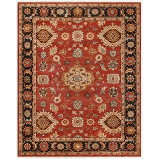 Feizy Hunter Traditional Red Black Rug (7'9 x 9'9)