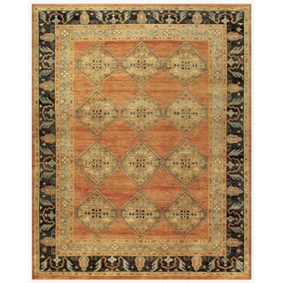 """Feizy Hand-knotted 100-percent Wool Pile Hunter Rug in Rust/Charcoal 7'-9"""" x 9'-9"""""""