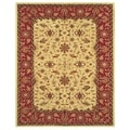 Makenzie Light Gold Burgundy Rug (8' x 11')