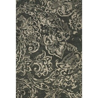Feizy Tufted 100-percent Wool Pile Beloha Rug in Gray / Multi 8' X 11'