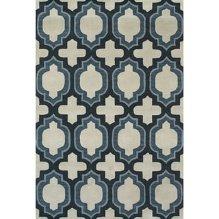 Feizy Tufted 100-percent Wool Pile Terresa Rug in Blue 8' X 11'