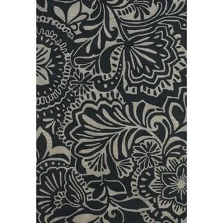 Feizy Tufted 100-percent Wool Pile Terresa Rug in Gray / Black 8' X 11'