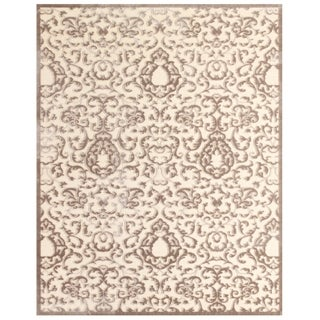 "Grand Bazaar Power Loomed Viscose Penelope Rug in Cream/Gray 7'-6"" X 10'-6"""