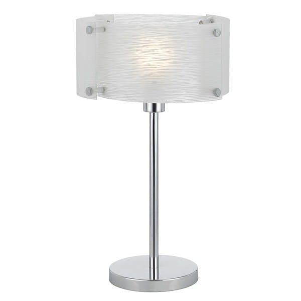 Cal Lighting Elliptical Glass Table Lamp