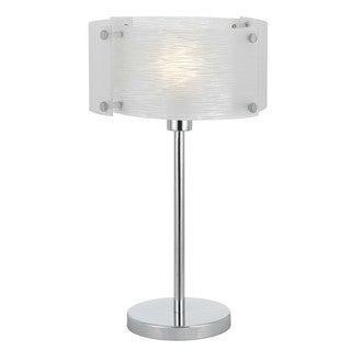 Cal Lighting Elliptical Glass Table Lamp