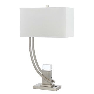Cal Lighting Scaffold Metal/Crystal Table Lamp with 1-watt LED Night Light