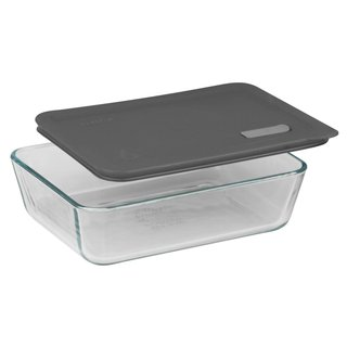 Pyrex No Leak 3-cup Lids for Rectangle Baking Dishes