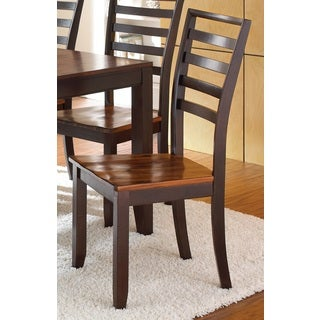 Acacia Solid Wood Side Chair (Set of 2)