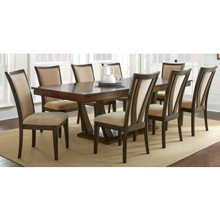 Gillian Pedestal Wood Dining Set