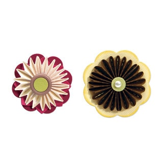 Sizzix Sizzlits Accordion Fold Flowers Die Set by Scrappy Cat (3 Pack)