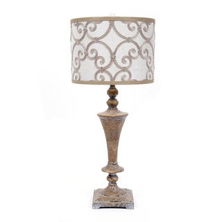 Fangio Lighting 32-inch Resin Table Lamp with Designer Shade