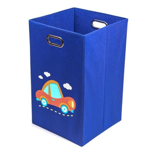 Nuby Dark Blue Car Folding Laundry Bin