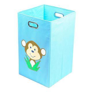 Nuby Light Blue Monkey Folding Laundry Bin