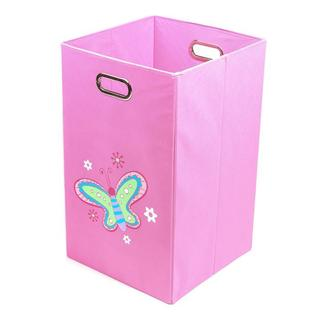 Nuby Light Pink Butterfly Folding Laundry Bin