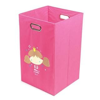Nuby Princess Folding Laundry Bin in Dark Pink