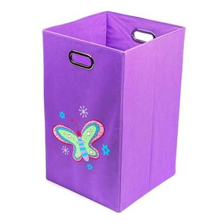 Nuby Purple Butterfly Folding Laundry Bin