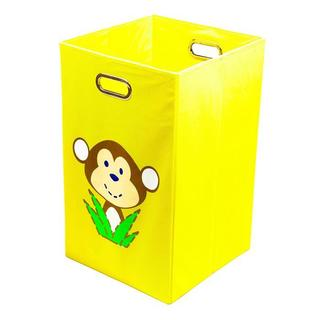 Nuby Yellow Monkey Folding Laundry Bin