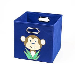 Nuby Dark Blue Monkey Folding Storage Bin