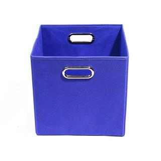 Bold Solid Blue Folding Storage Bin