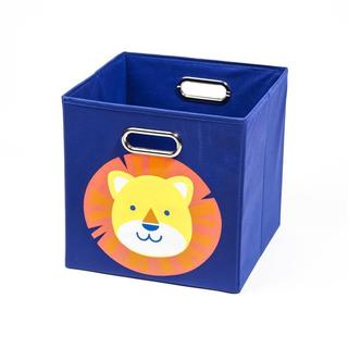 Nuby Dark Blue Lion Folding Storage Bin