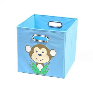 Nuby Light Blue Monkey Folding Storage Bin