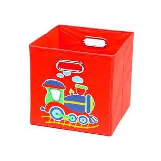 Nuby Red Train Folding Storage Bin