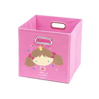 Nuby Light Pink Princess Folding Storage Bin