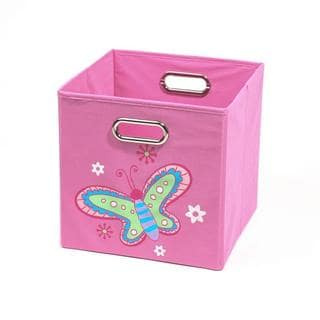 Nuby Light Pink Butterfly Folding Storage Bin