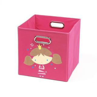 Nuby Dark Pink Princess Folding Storage Bin