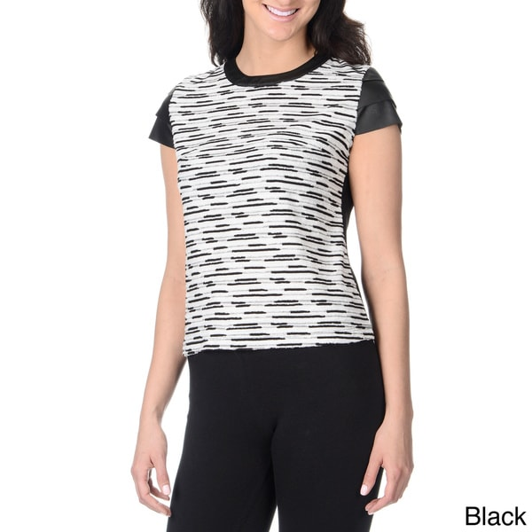 YAL New York Women's Novelty Textured Top
