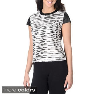 YAL New York Women's Novelty Textured Top