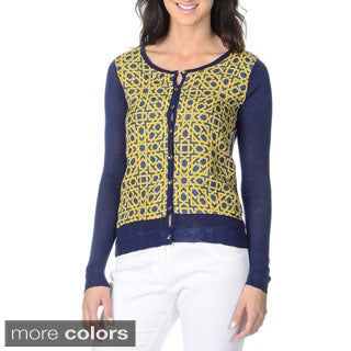 Yal New York Women's Status Print Cardigan