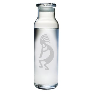 Kokopelli Glass Water Bottle
