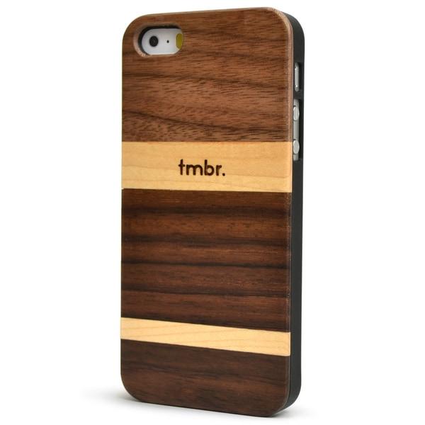 Walnut Mix Wood iPhone 5/5S Case