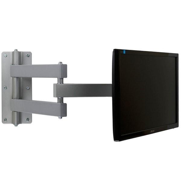 Mount-It! Silver 3-way Adjustable Corner TV Wall Mount Bracket
