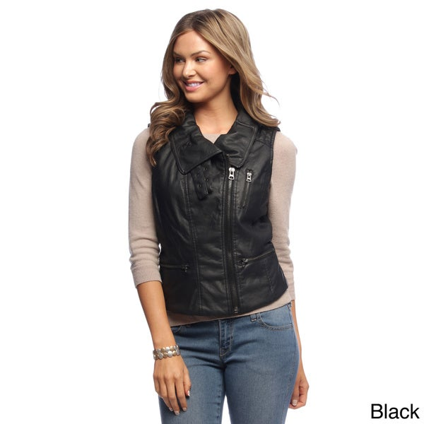 Maralyn & Me Women's Fashionable Motorcylce Vest