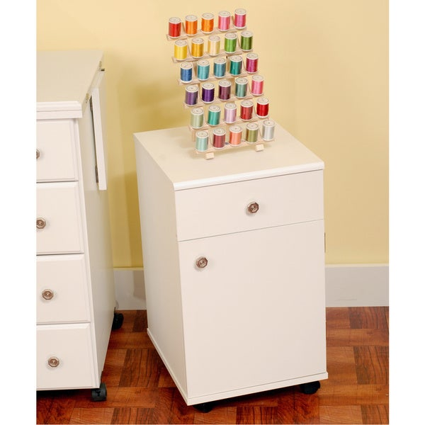 Suzi White Sewing Machine Accessory Storage Cabinet