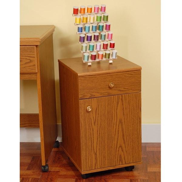 Suzi Oak Sewing Machine Accessory Storage Cabinet