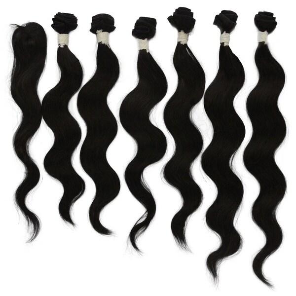 Brazilian Unprocessed Virgin 7-piece Body Wave Remy Hair 13085886