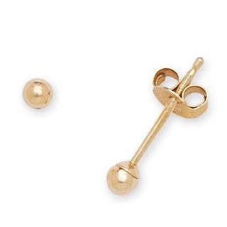 14k Yellow Gold Children's 2 mm Ball Stud Earrings